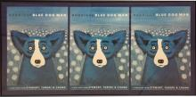 George Rodrigue, Signed Blue Dog Triptych