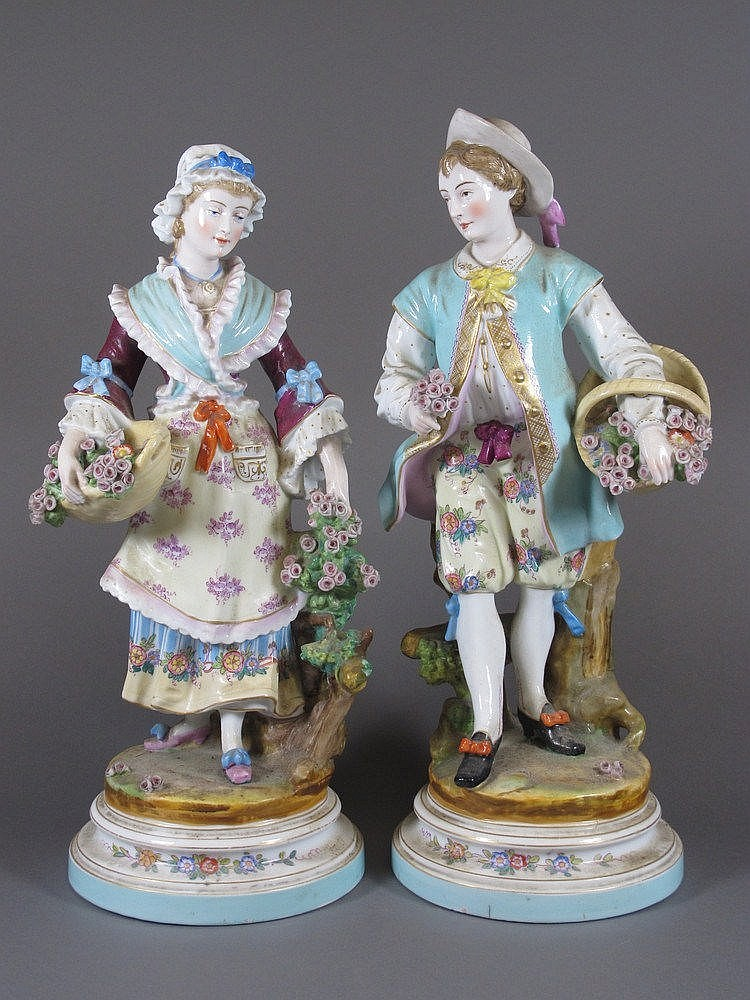A pair of 19th Century Continental porcelain