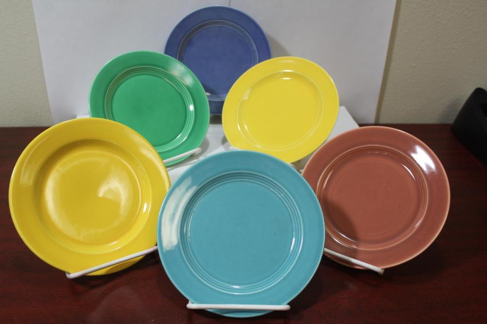 Set of 6 Mixed Color Fiesta? Bread Plates