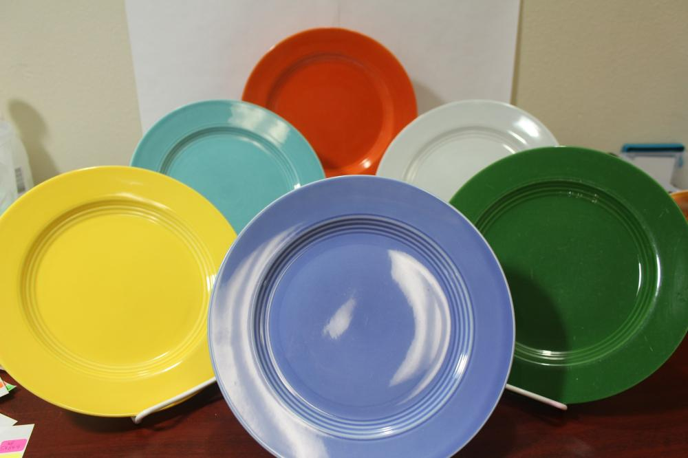 Set of 6 Mixed Color Fiesta? Plates