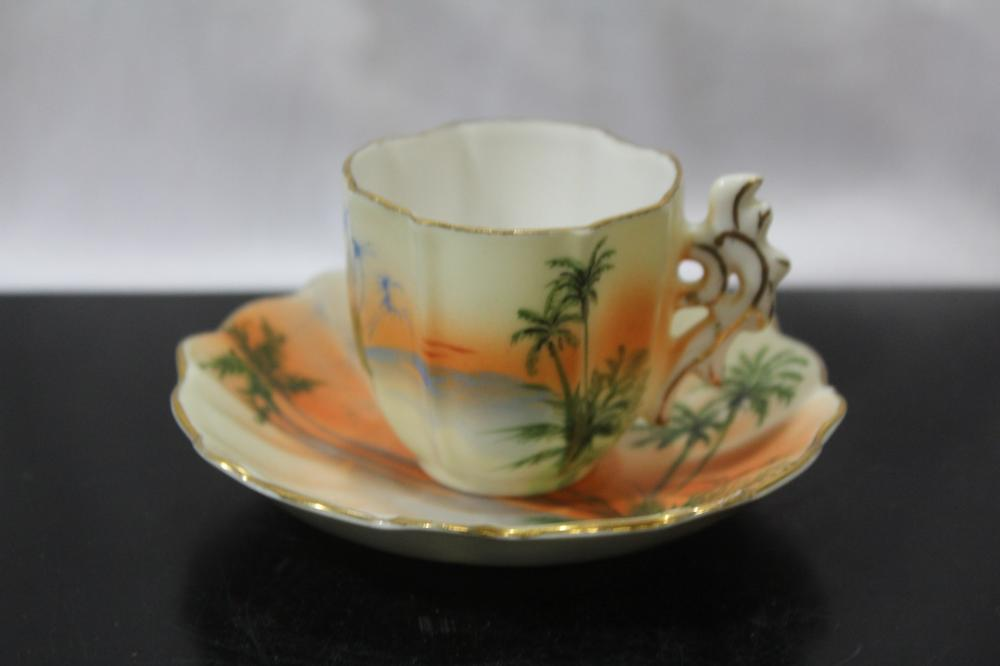 An Occupied Japan Demitasse Cup and Saucer
