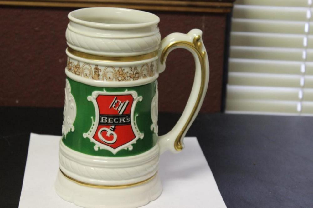 A Franklin Mint Becks Beer Mug