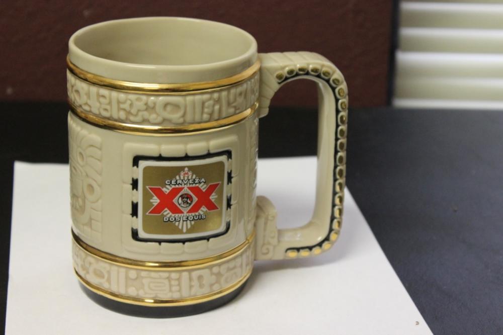 A Franklin Mint Cerveza Dos Equis Beer Mug