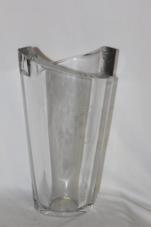 A Signed orrefors Rare Artglass Vase