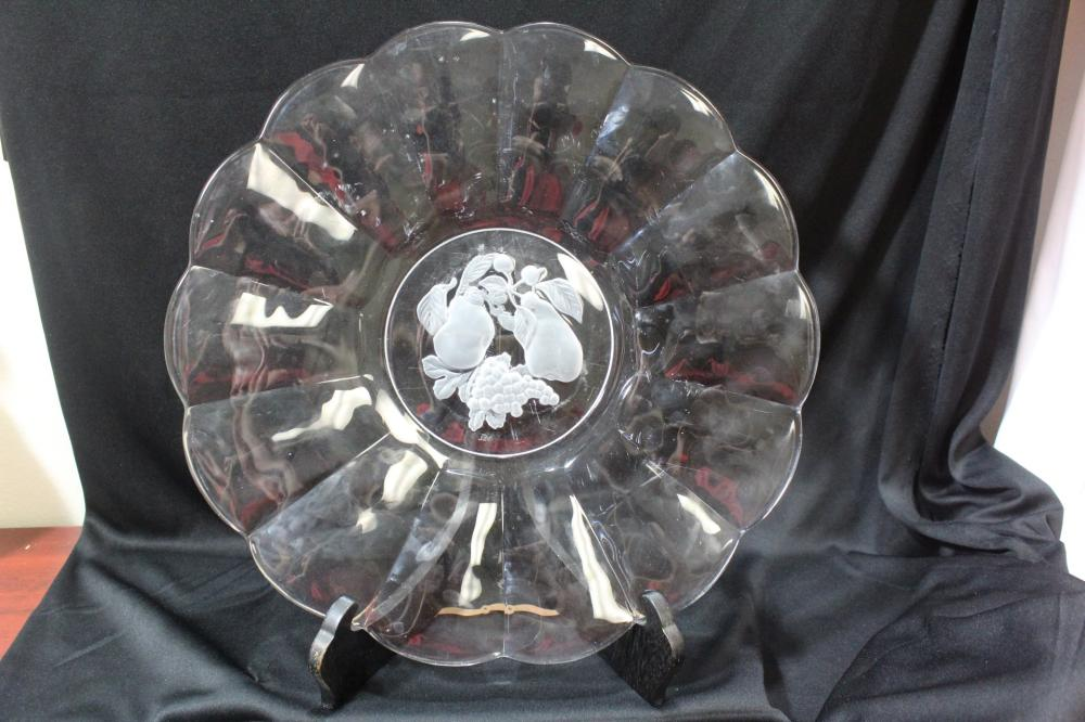 A Glass Fruit Plate