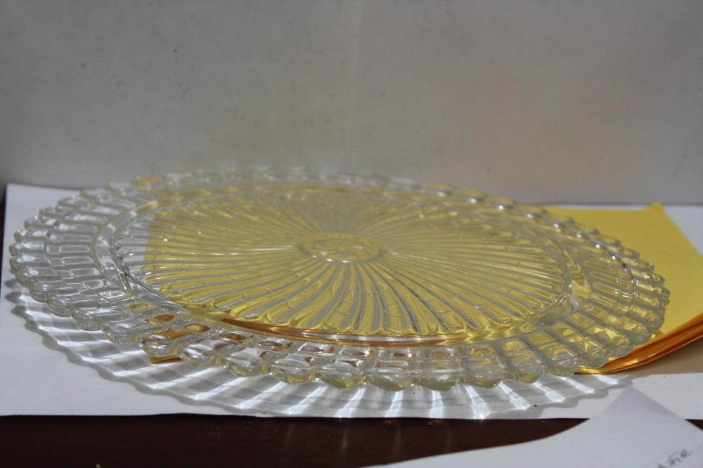 A Footed Glass Platter