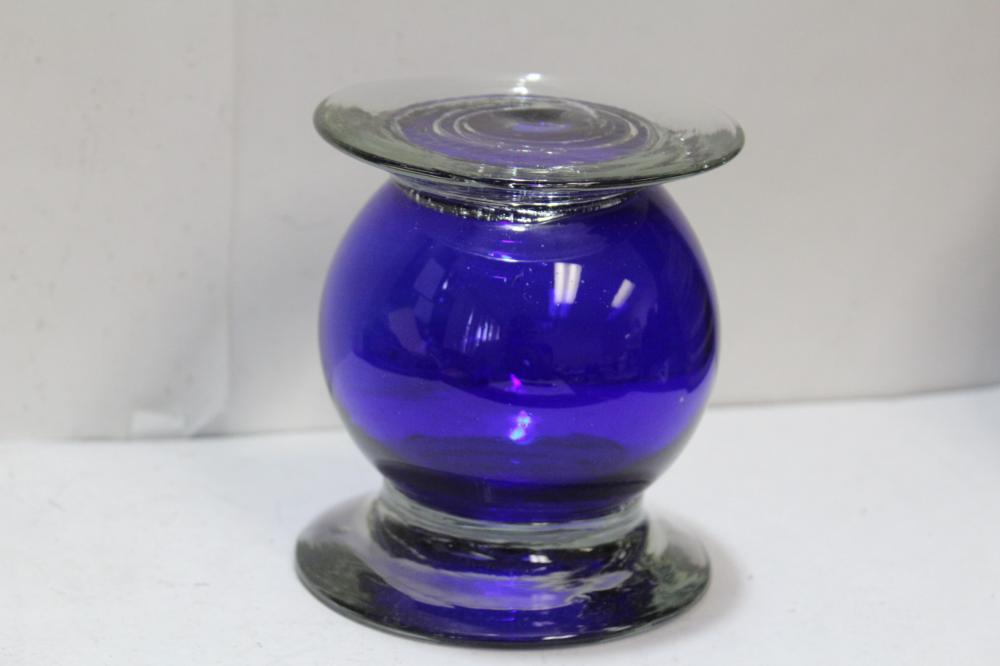 Handblown Cobalt Blue Glass Stand