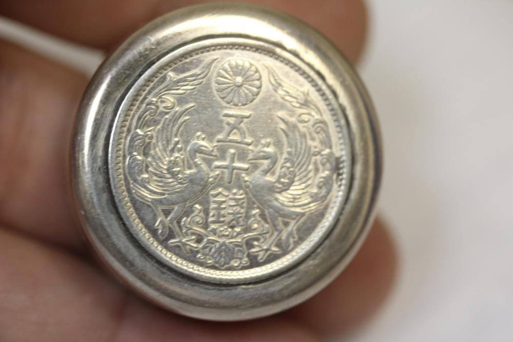 An Imperial Japan Sterling Pill Box