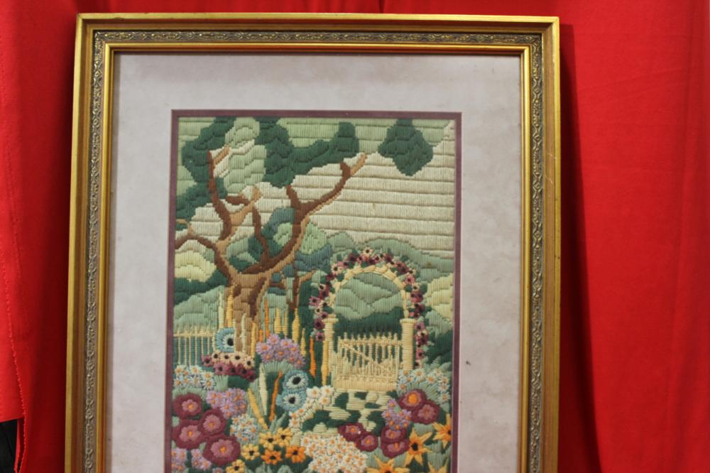 A Framed Needle Point
