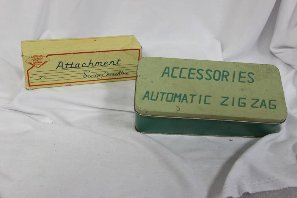 Two Boxes of Sewing Accessories