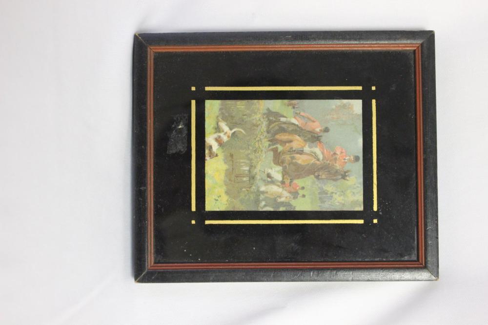 A Framed Hunting Print