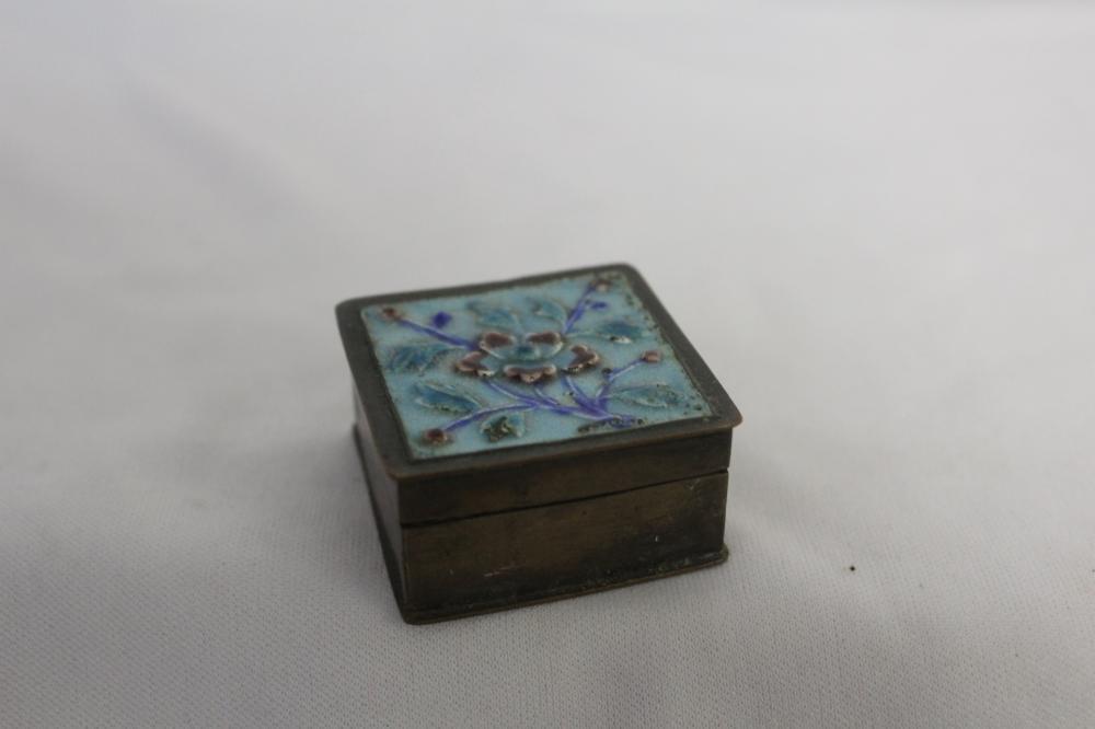 A Marked Enamel Pill Box