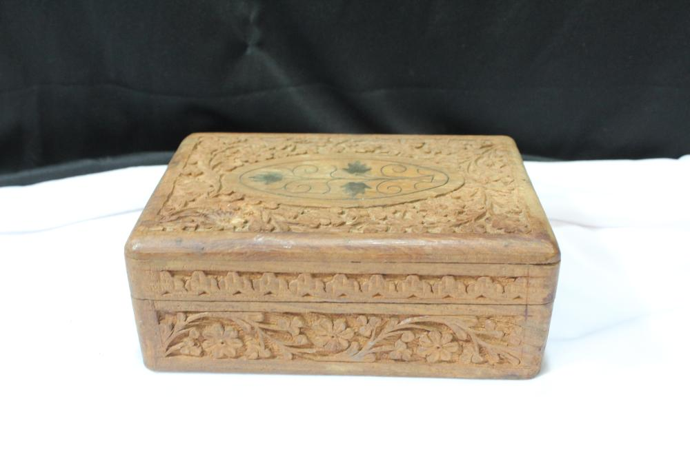 A Well Carved Wooden Box