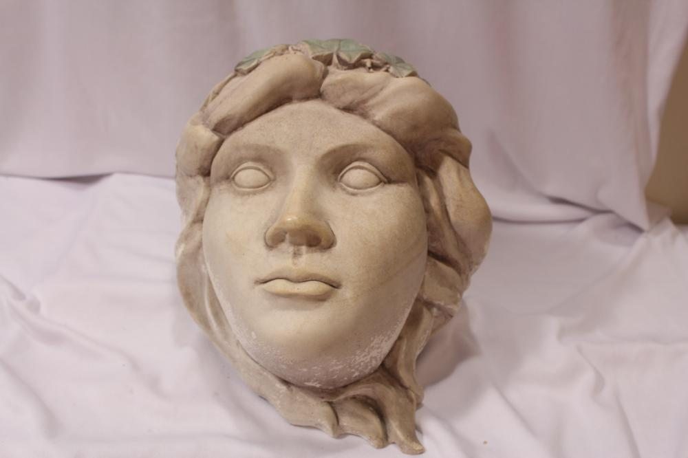 A Female Head with Ivy Wall Planter