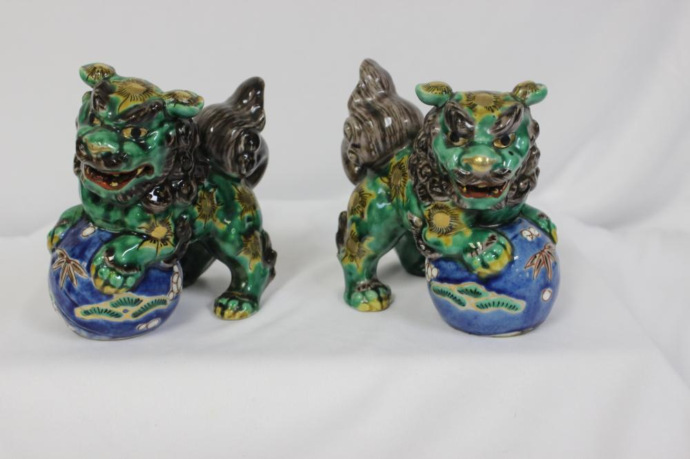 A Pair of Japanese Foo Lions