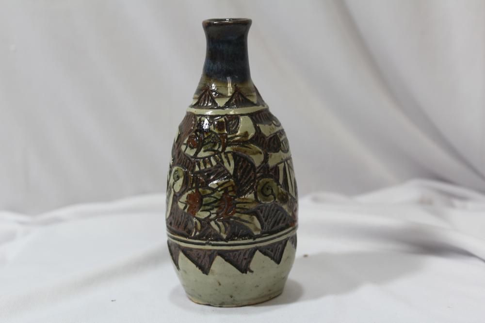 A Vintage/Antique Pottery Wine Bottle