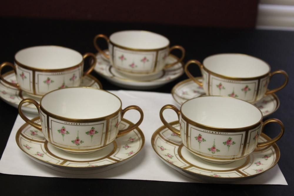 Set of 5 Limoge's B&H France Cups and Saucer