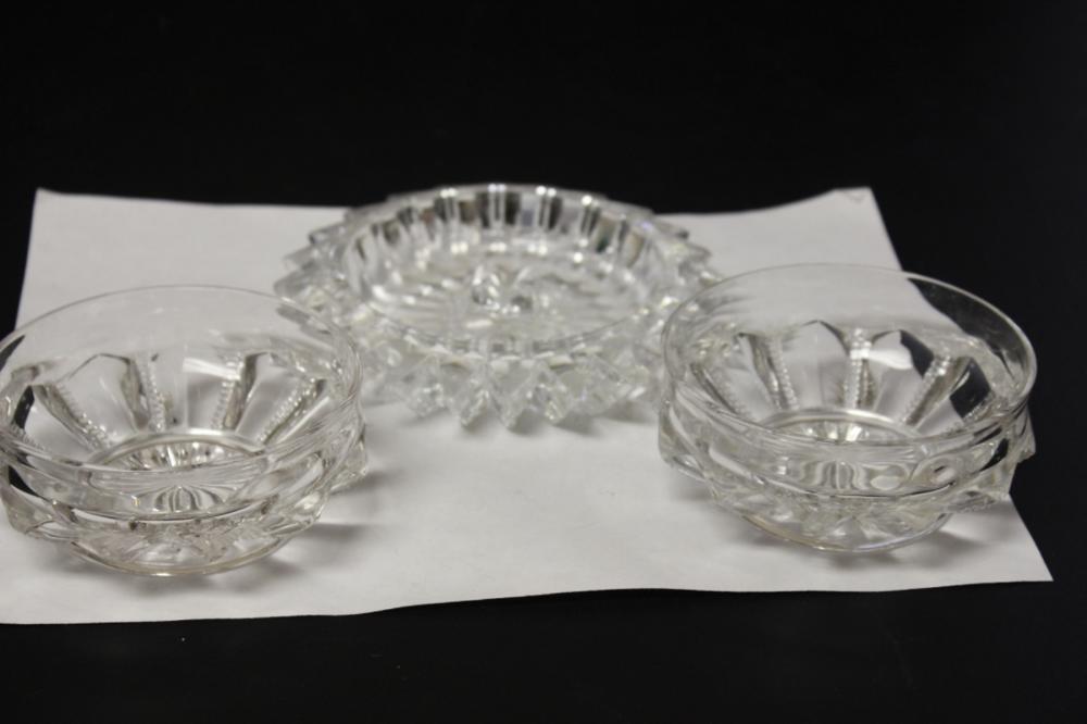 Lot of 3 Cut Glass Articles