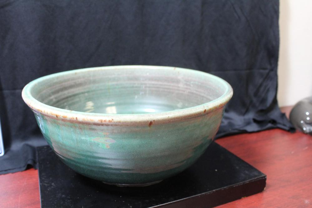 A Signed Art Pottery Large Bowl
