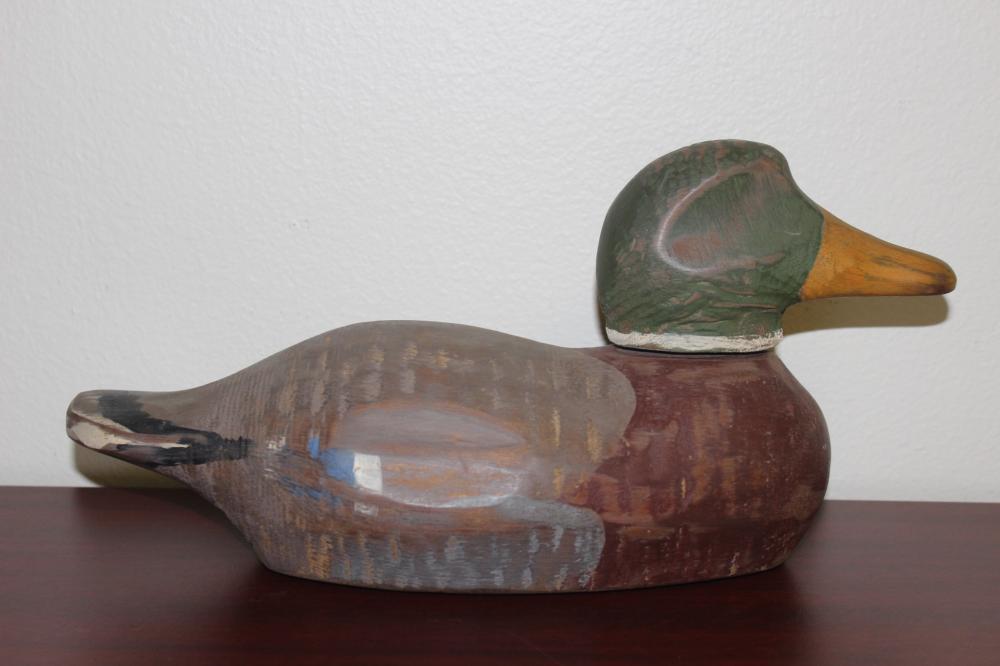 A Signed Wolf Creek Duck Decoy