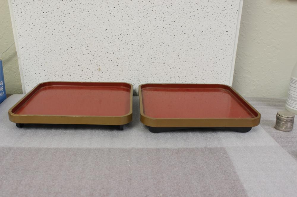 A Pair of Japanese Lacquer Trays