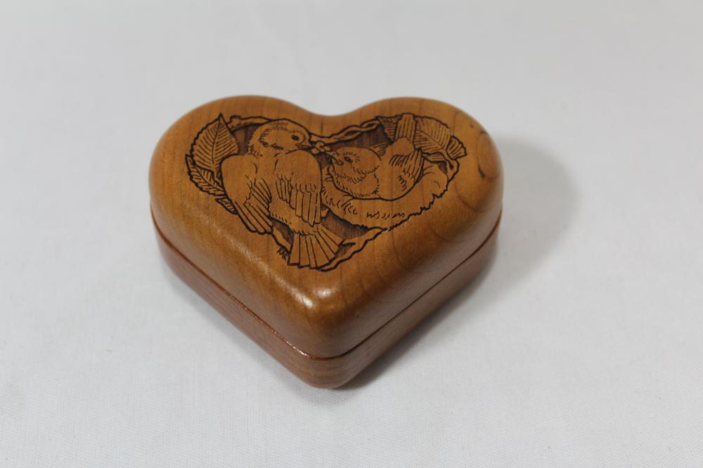 An Engraved Heart Wooden Box