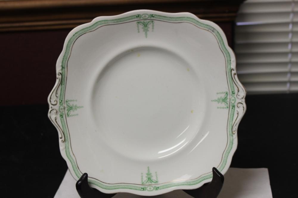 A Paragon China, England Square Porcelain Plate