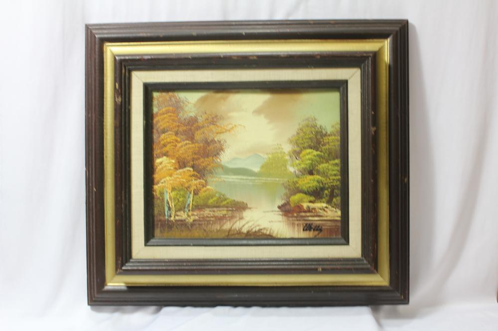 A Signed Oil On Board Painting