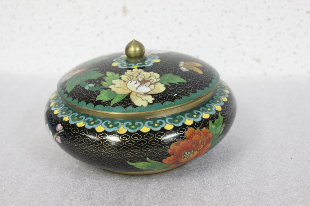 A Chinese Cloisonne Cover Jar