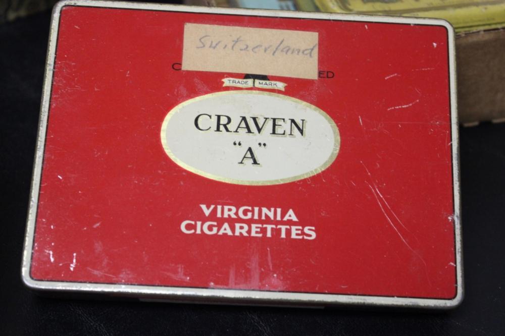 """A Carven """"A"""" Virginia Cigarettes Tin"""
