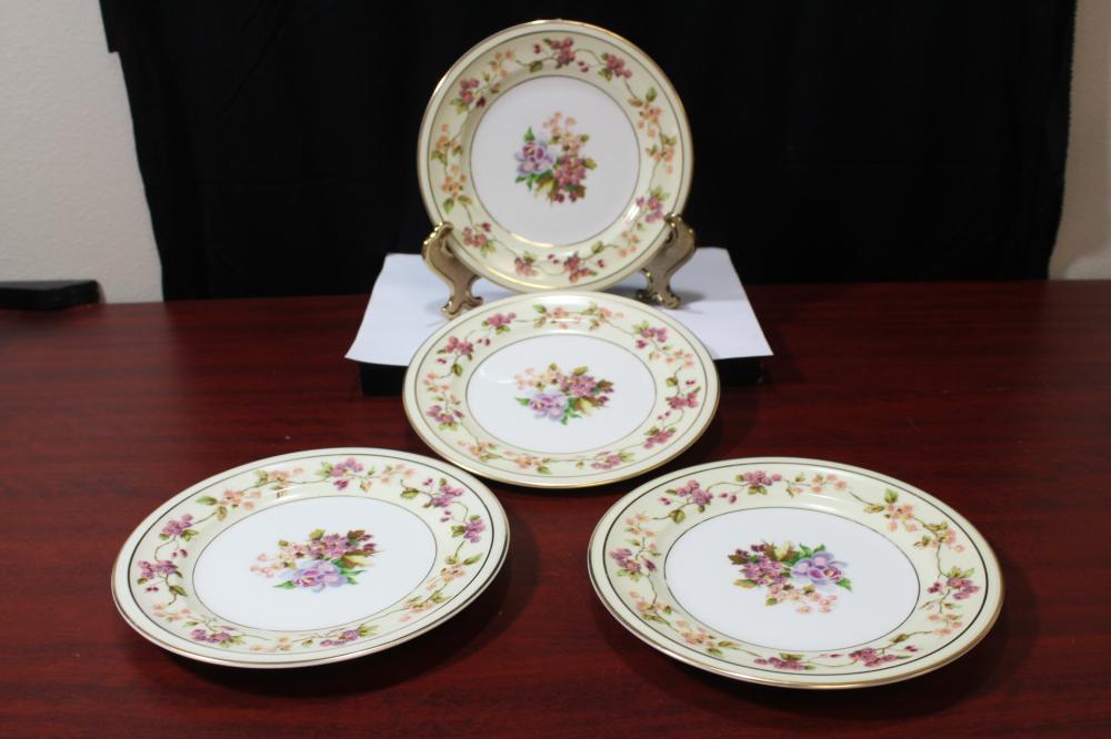 Set of 4 France, Limoge Plates
