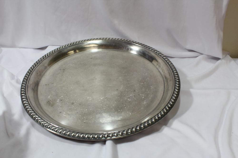 A Silverplated Tray