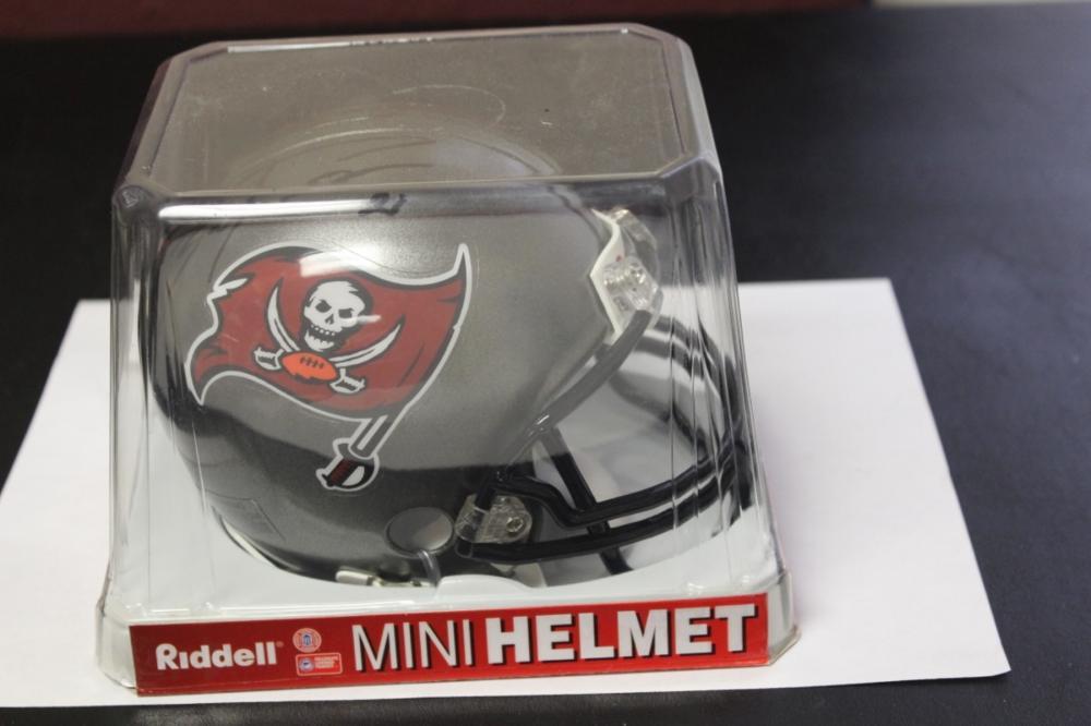 A Signed Buccaneer Mini Helmet