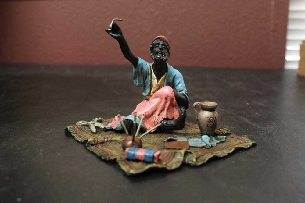 An Austrian Cold Painted Bronze Statue - Taylor on Carpet