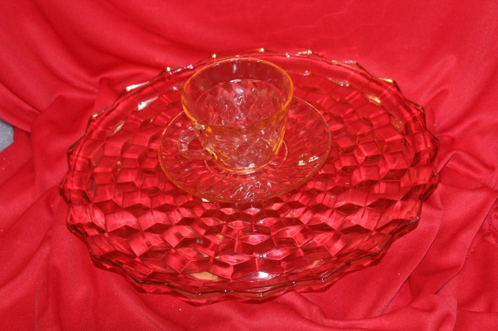 Lot of 3 Depression Glass Articles