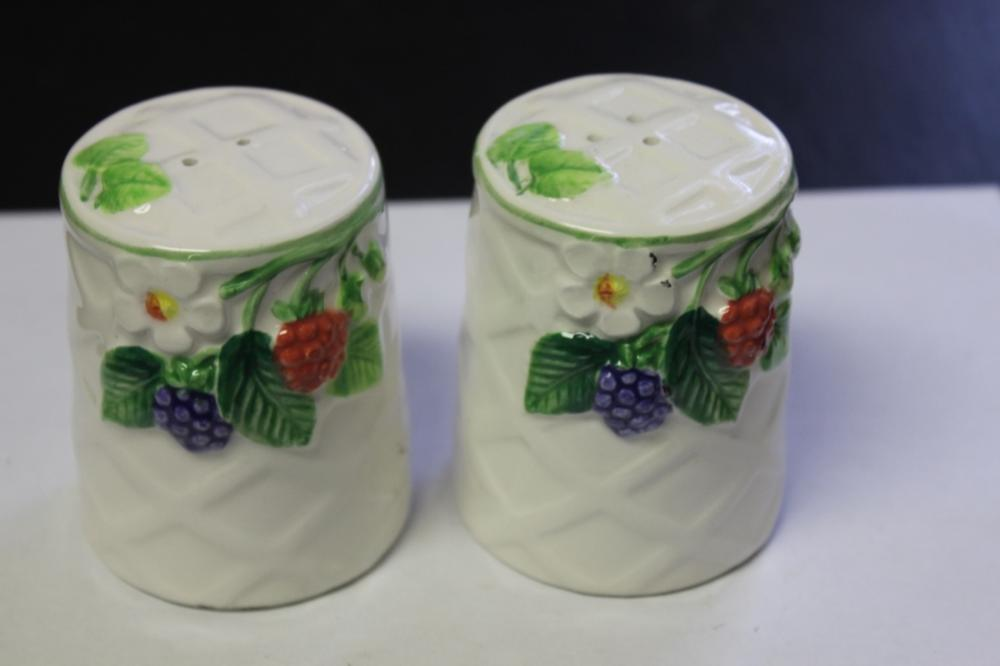 A Pair of Japanese Salt and Pepper Shakers