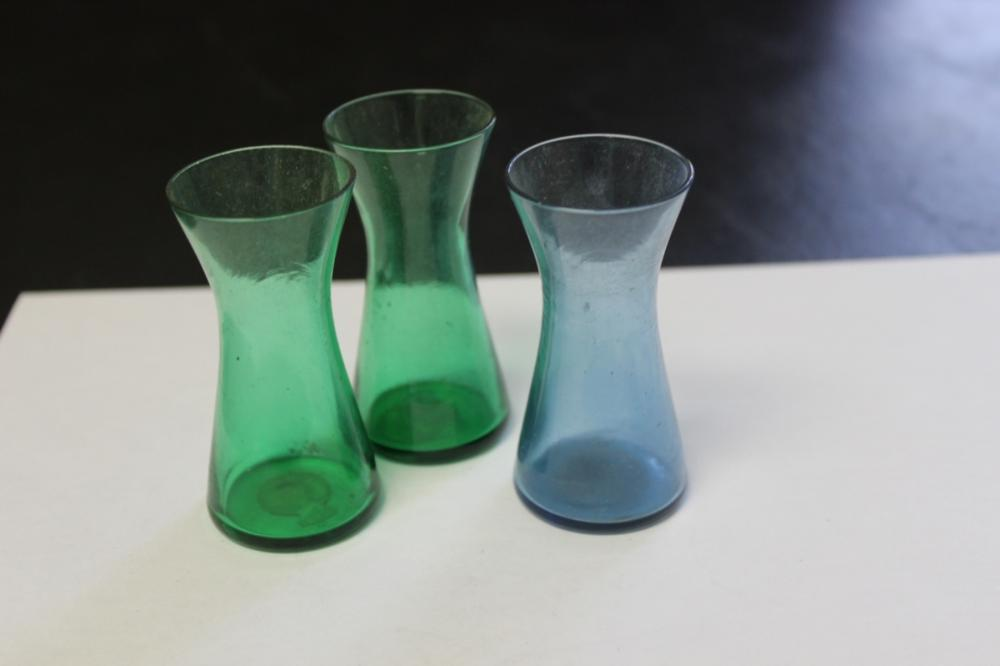 Lot of 3 Fritzsche Apothecary Glass Bottle