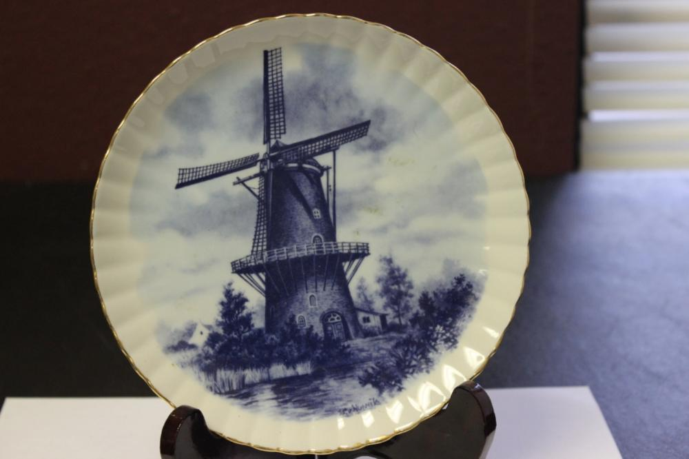 Collector's Plate From Holland - Blue and White