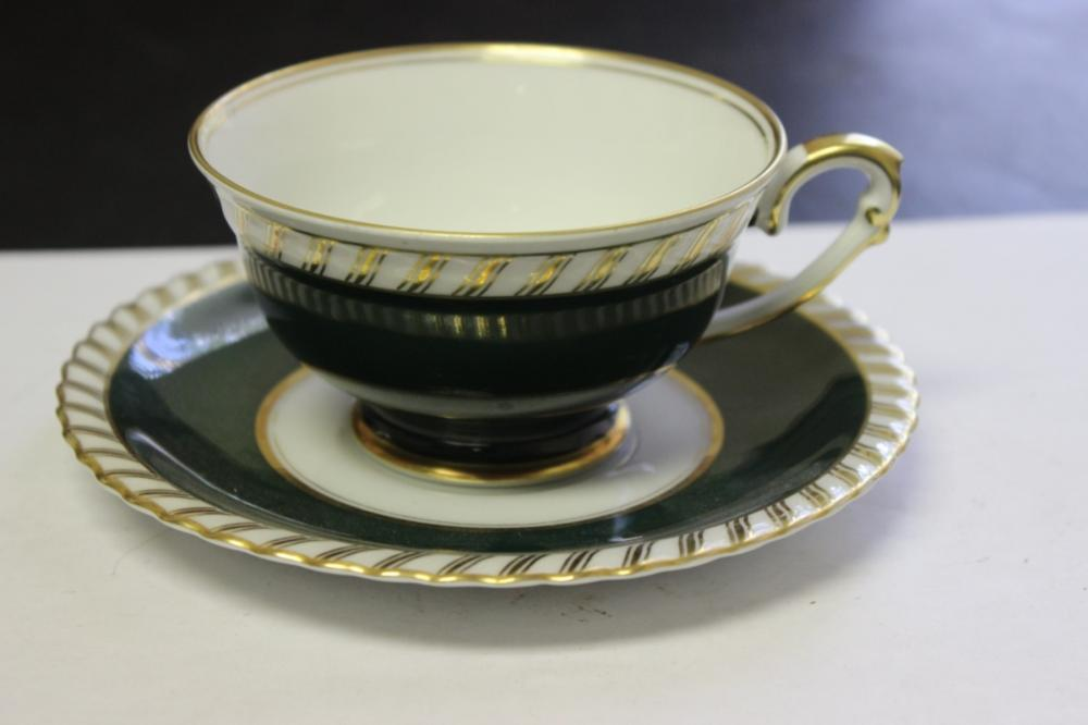 A Franconia Krautheim Selb Bavaria Cup and Saucer - Forest Pattern