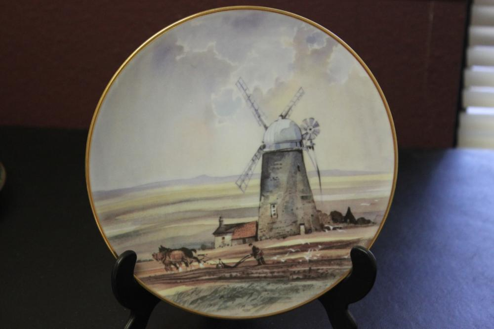 Collector's Plate - Romantic Windmills
