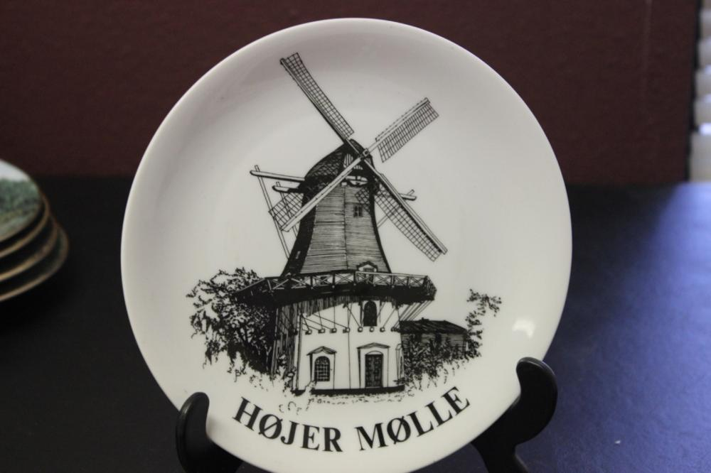 Collector's Plate - Danish Windmills - Numbered