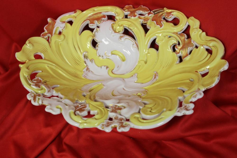 A Meissen Reticulated Bowl or Platter