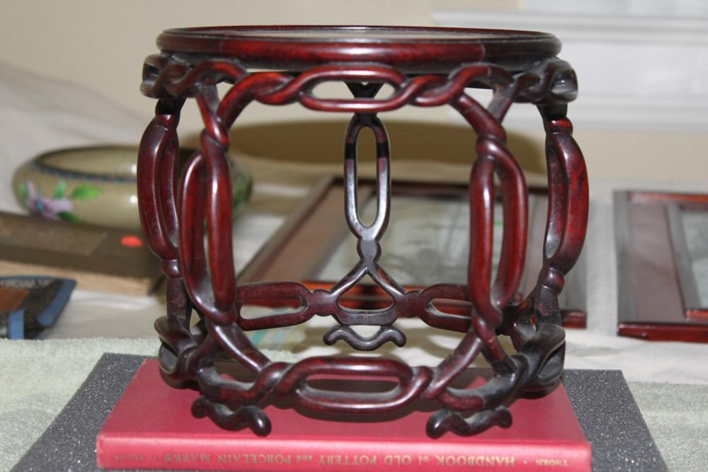Very Nicely Carved Rosewood Stand