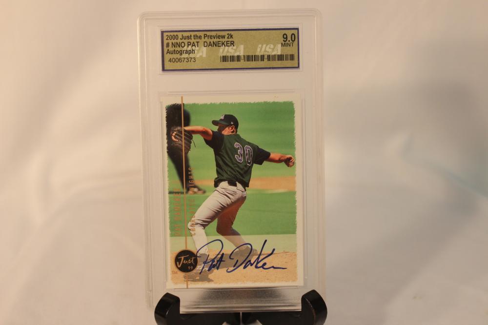 A Graded Autographed Baseball Card