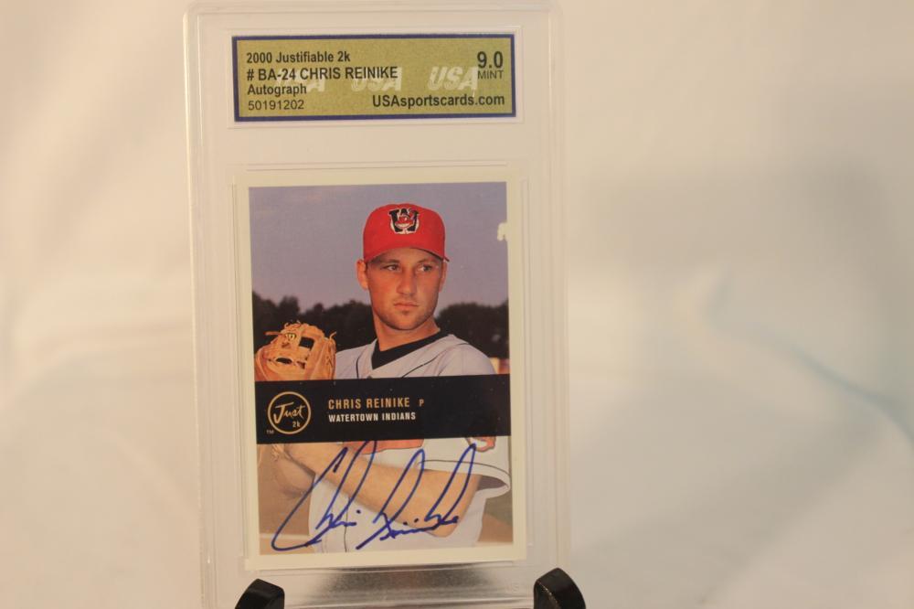 Chris Reinike Graded Autograph Baseball Card