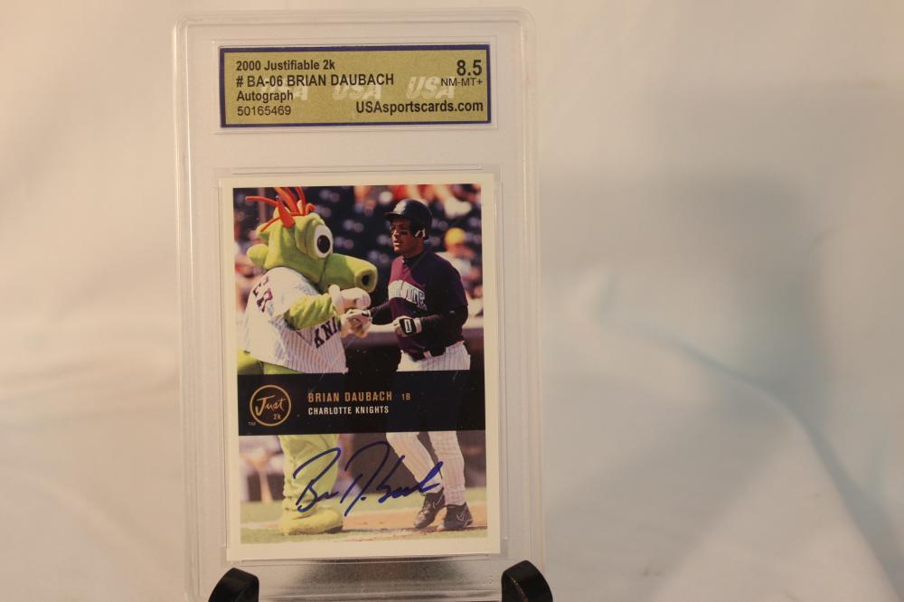 Brian Daubach Autographed Baseball Card Graded