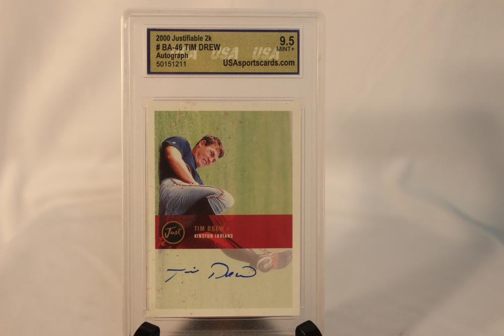 Tim Drew Autographed Baseball Card Graded