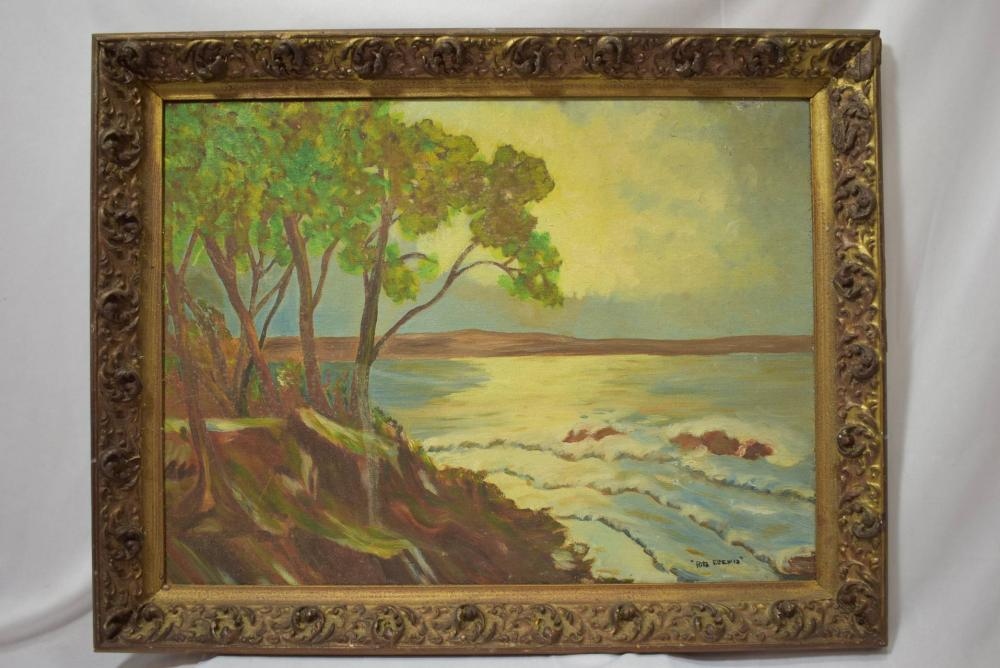 A Signed Vintage Oil on Board Painting