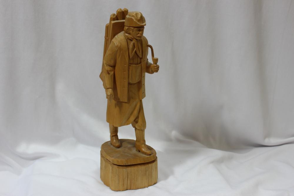 A Handcarved Wooden Figure