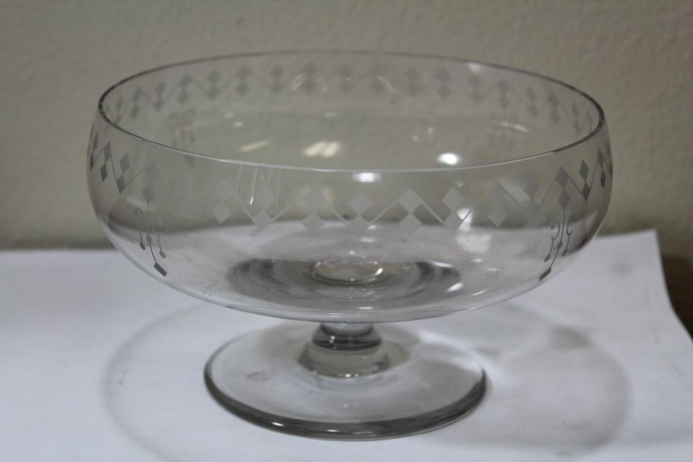 An Etched Glass Bowl